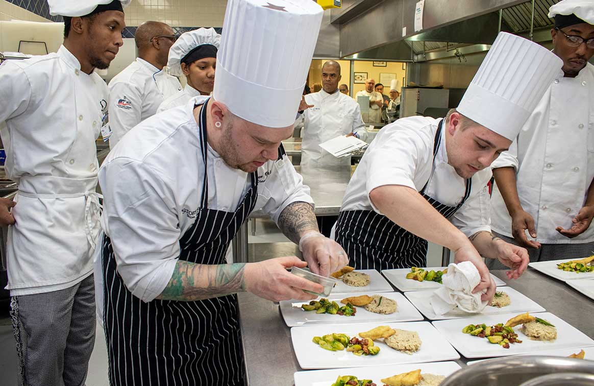 independence village chefs competing in a culinary competition