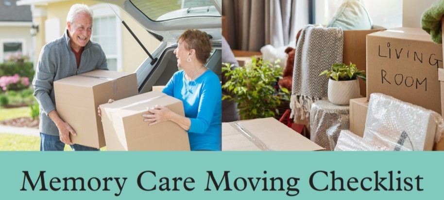 Moving checklist for someone with memory impairment